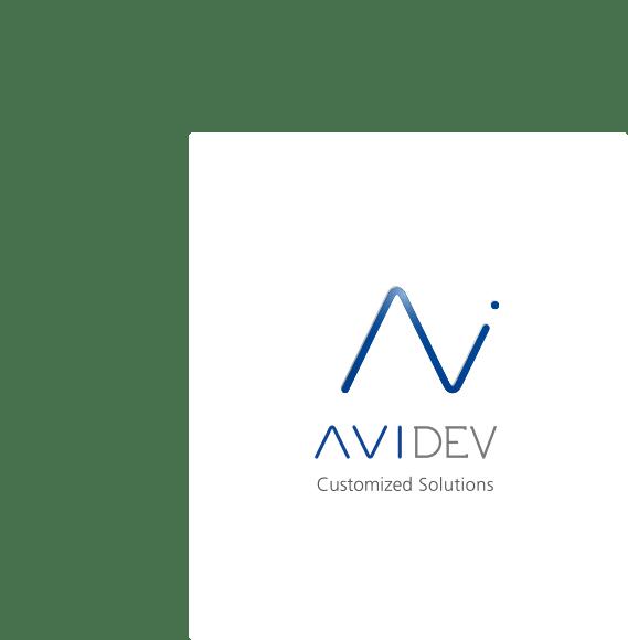 Logo AVIDEV sur fond blanc