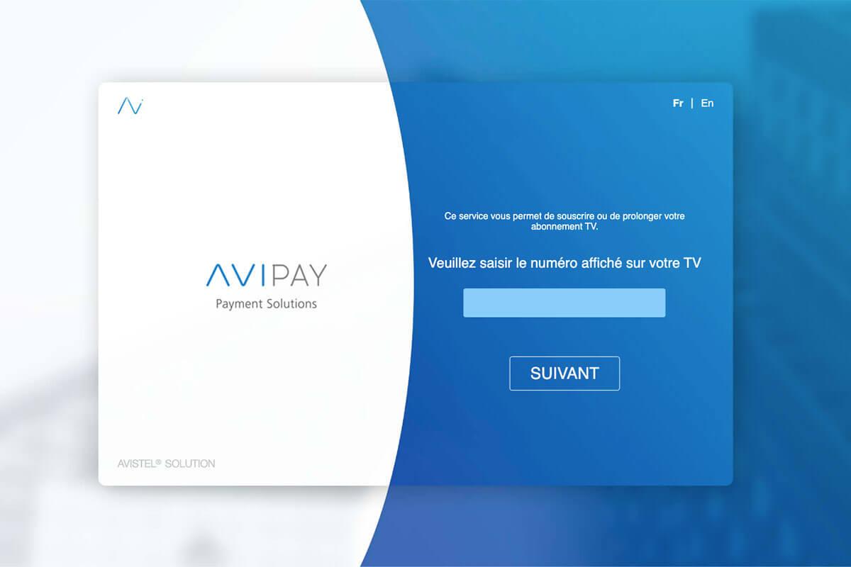 AVIPAY TV souscription interface utilisateur
