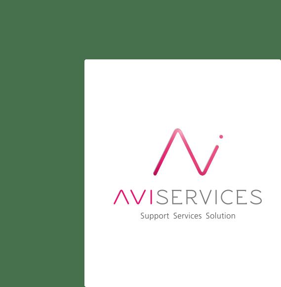 Logo AVISERVICES sur fond blanc
