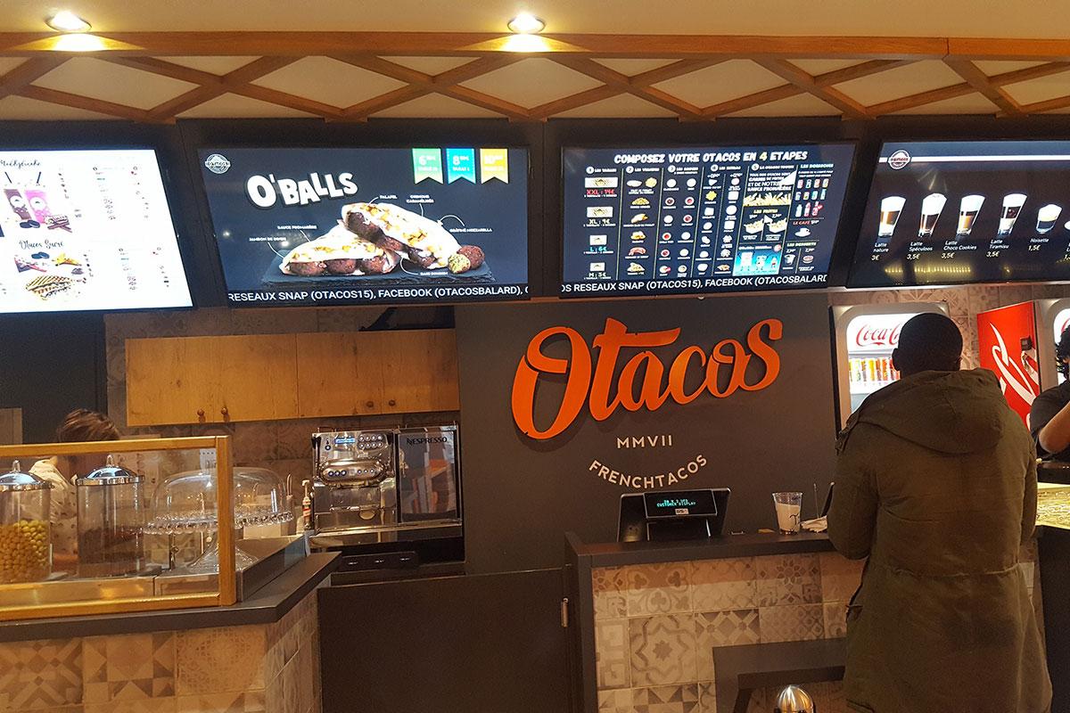 Services affichage dynamique fast food