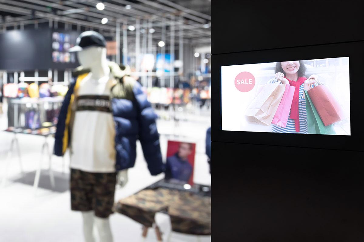 affichage dynamique magasin devanture