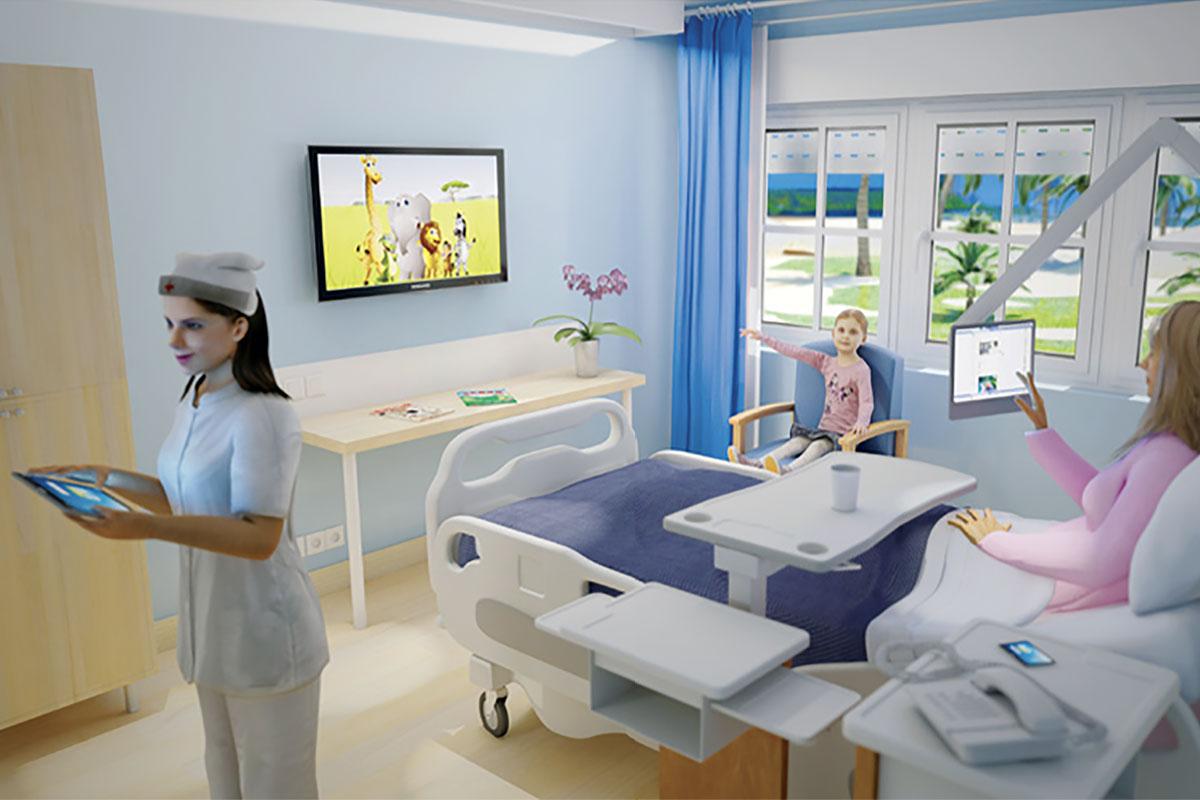Chambre hôpital écrans AVISTEL